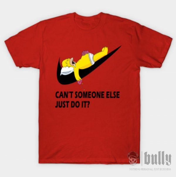 забавни-мързел-тениска-були-бг-червена