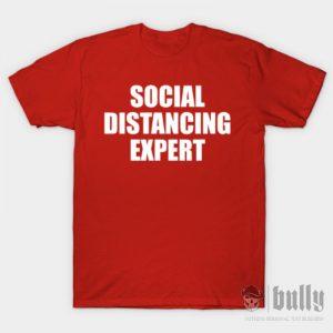 забавни-социална-дистанция-тениска-були-бг-червена