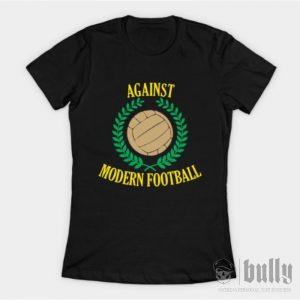 ултрас-срещу-модерния-футбол-женска-тениска-були-бг-черна-ink