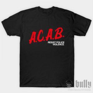 ултрас-acab-тениска-були-бг-черна-ink