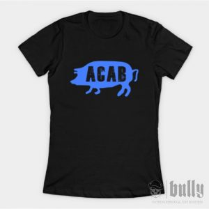 ултрас-acab-pig--женска-тениска-були-бг-черна-ink