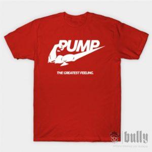 фитнес-pump-тениска-червена-були-бг-ink