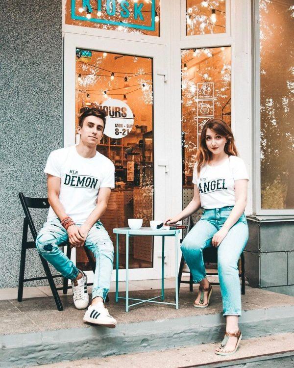 демон-ангел-тениски-за-двойки-були-бг