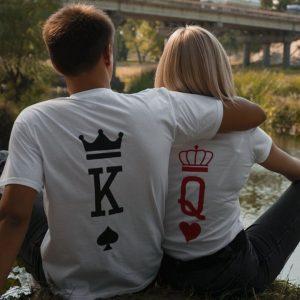 крал-и-кралица-тениски-за-двойки-були-бг-бяла---