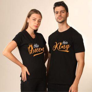 крал-краица-тениски-за-двойки-були-бг