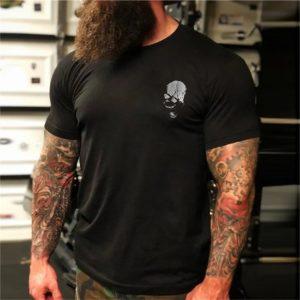 череп-фитнес-тениска-були-бг